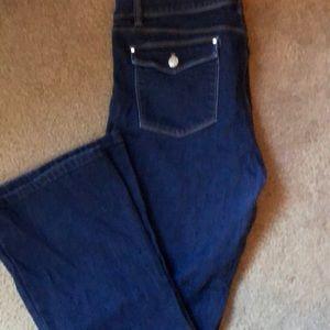 White House Black Market Skinny Flare Jeans-Sz 14s
